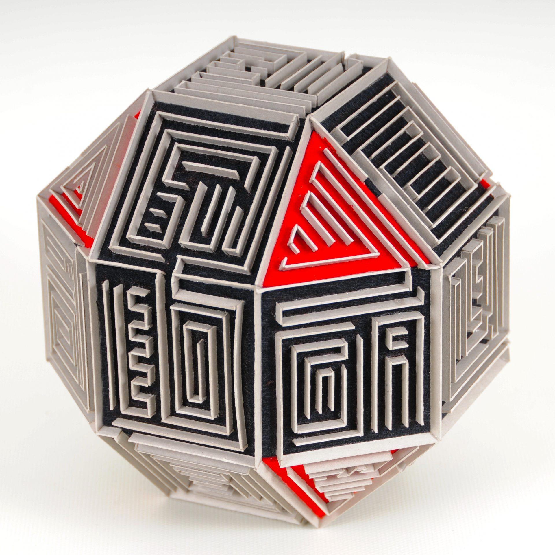CT-002 cardboard,felt 19x19x19cm