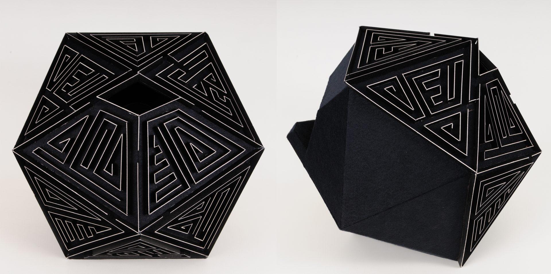 CT-003 cardboard,felt,camera obscura 33x33x33cm