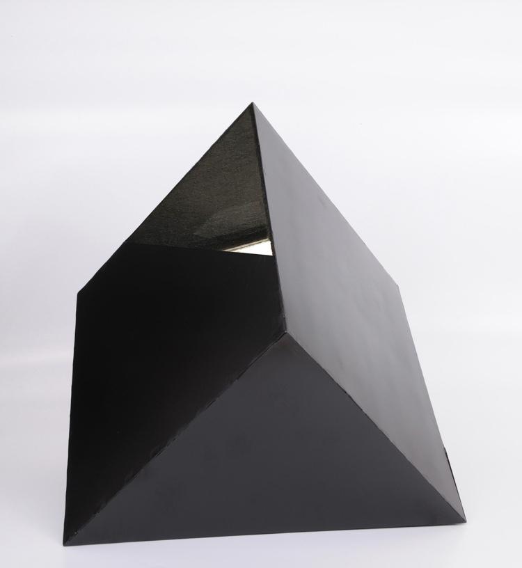 Parts of an Ego mixed media(metal, felt, glass, resin) 40x40x60cm
