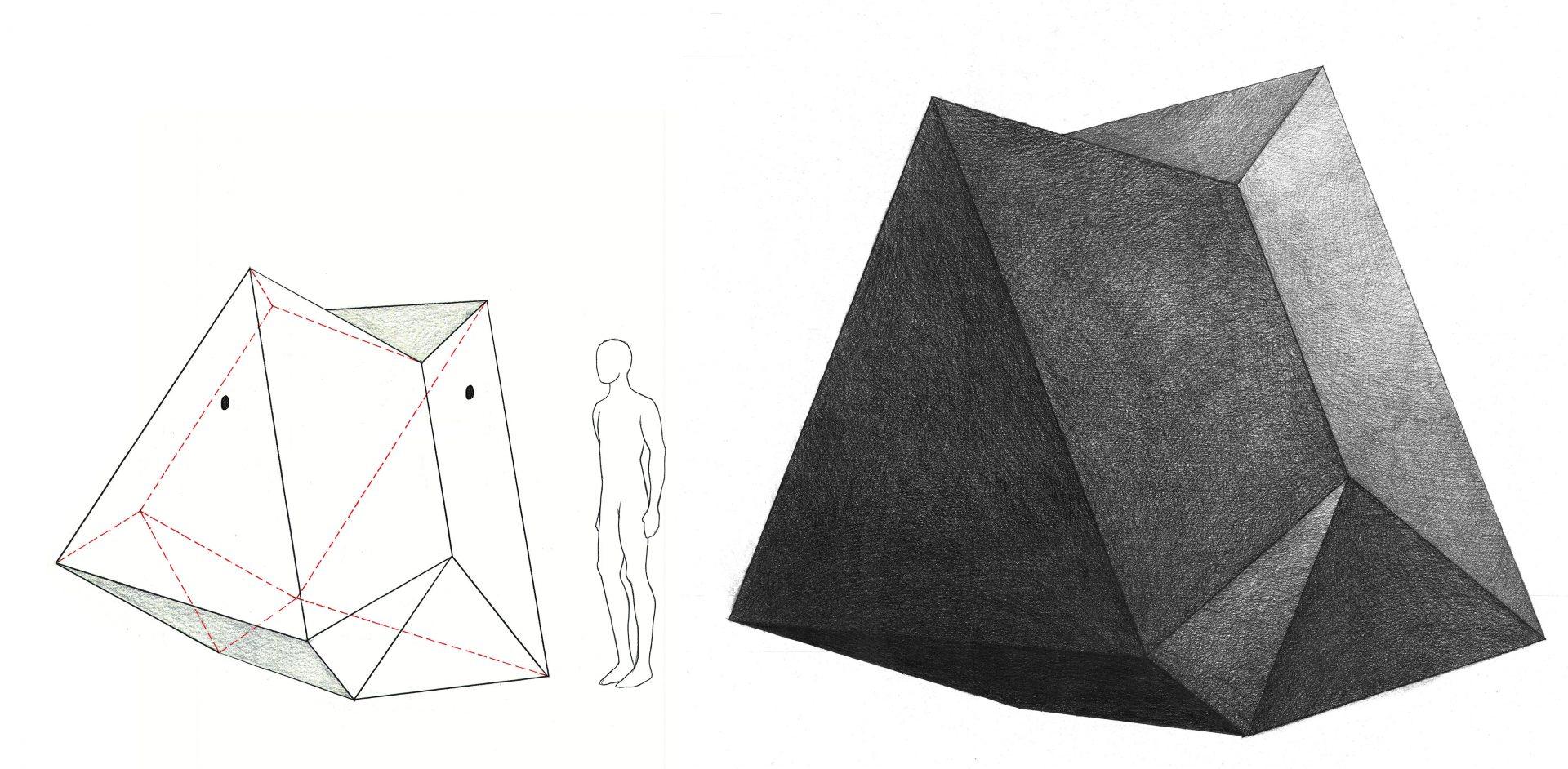 Trials for a Sculpture 150x60cm .